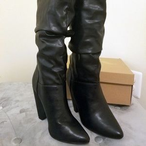 Charlotte Russe Madison Slouch Boots Size 6